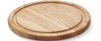 Gummibaum Steakteller m. Saftrille geölt, Ø 30 x 1,8cm