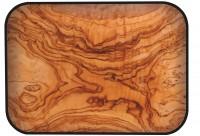 Osmos Tablett Olivenholz Optik/schwarz 40×30×1.1 cm