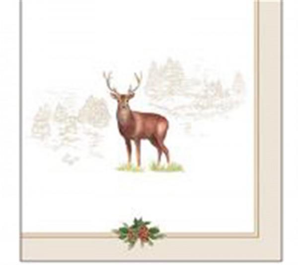 Deer Servietten 20 Stk. 33x33 cm