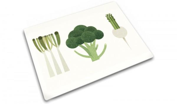 Glasschneideplatte Gemüse-Set 30x40cm