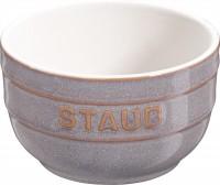 Keramik Ramequin rund, 2er Set, antik-grau, 8 cm