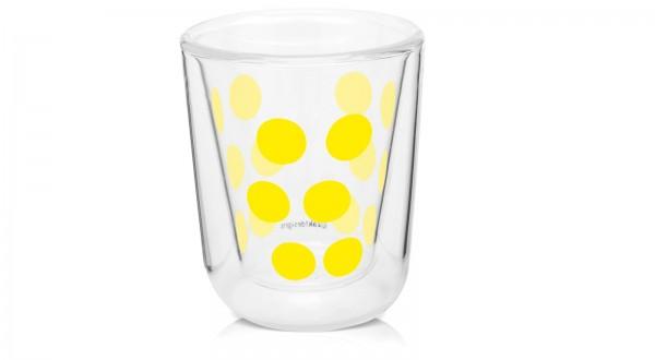 Dot Dot Espressoglas gelb, doppelwandig 7.5 cl