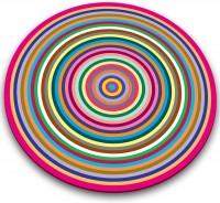 Glasschneideplatte Streifen rund 30cm