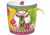 """Fancy Animals """"Hirsch"""" Porzellanbecher in GB, 350 ml"""
