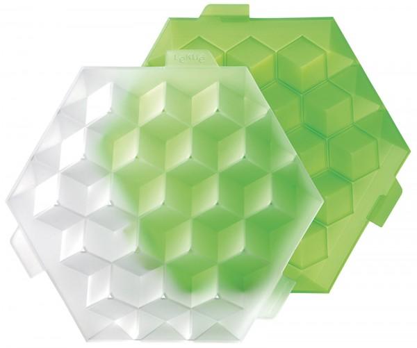 Eiswürfelbehälter grün, 21.8x19.8x4.5 cm, 2.5 dl