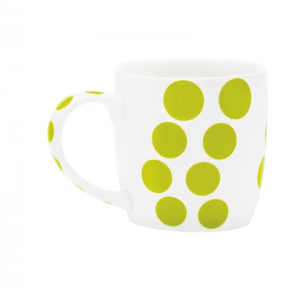 Dot Dot Porzellan Mug, grün, 35 cl
