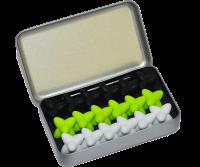 Craggles Geschenkbox - weiss & lime & schwarz