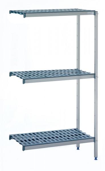 Anbauregal für Eckmontage 4 Ebenen 1251x500x1750 mm