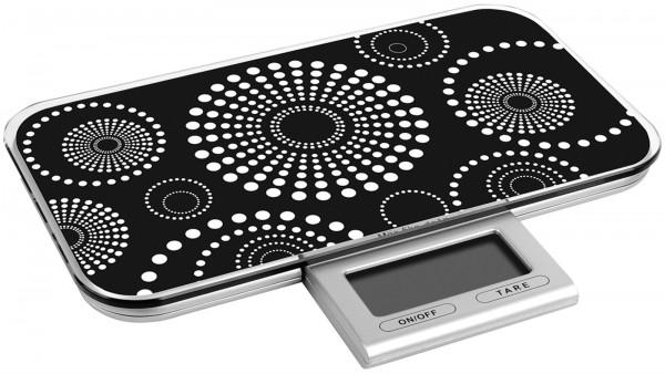 Küchenwaage digital schwarz bis 10kg 23x13x2cm