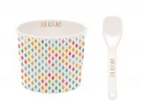 """Ice Cream Porzellan Eisbecher """"Kleine Ecken"""", Ø 8.5cm"""