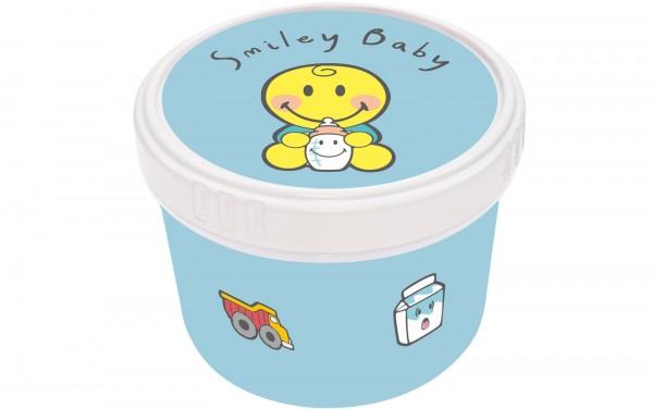 Smiley Baby blau Snack Box Ø8.5 cm
