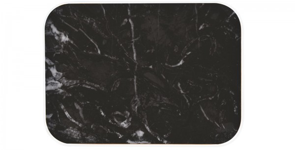 Osmos Servierbrett Marmor Optik/schwarz 28×20×1.1 cm