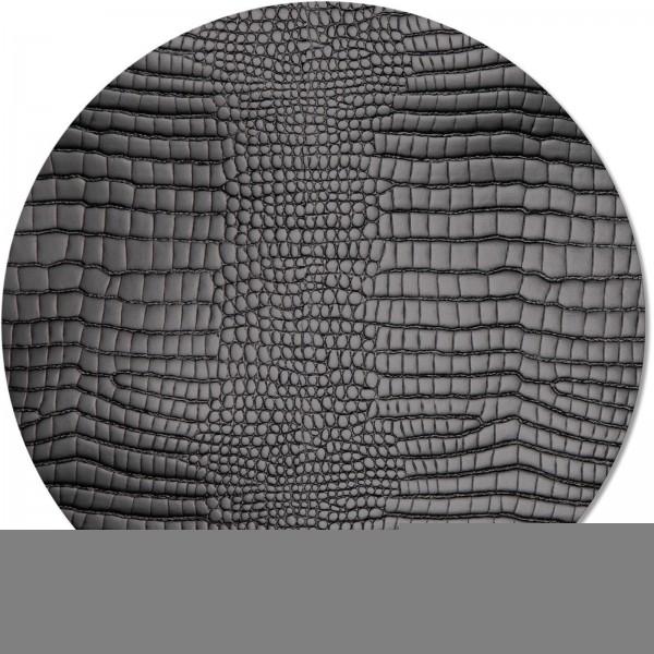 Tischset rund Ø 34 cm single piece FASHION BLACK KROKO