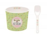 Ice Cream Porzellan Eisbecher in GB, grün, Ø 8.5 cm