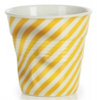 Espresso Knitterbecher 8 cl, gelb/weiss diagonal gestreift