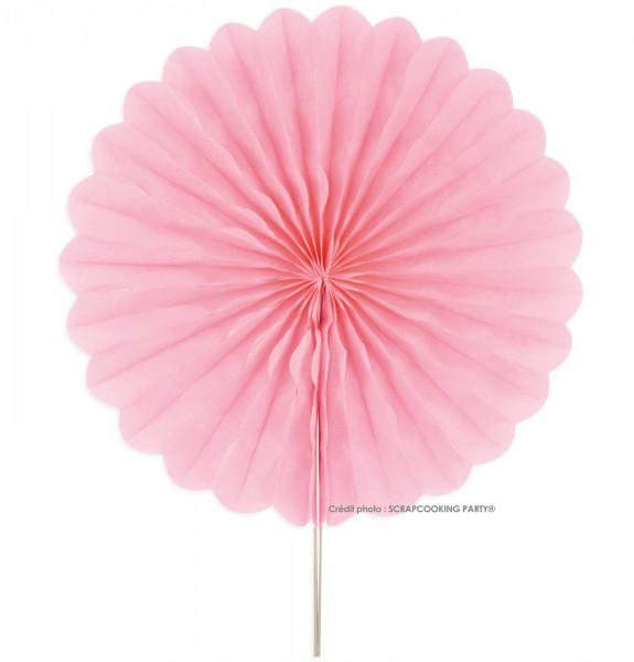 Dekokugeln Alveolenrosette 2 Stk. Papier rosa Ø25cm