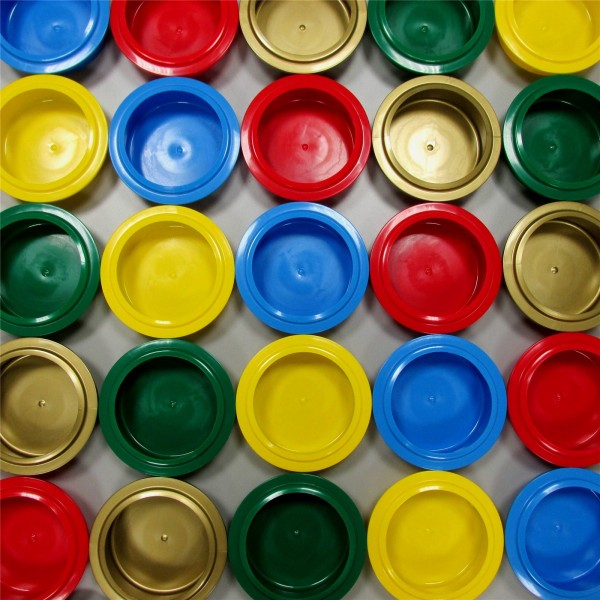 Becherdeckel gelb, zu Paccossier Becher, Set à 10 Stk