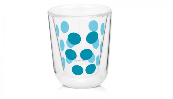 Dot Dot Espressoglas aqua blau, doppelwandig 7.5 cl