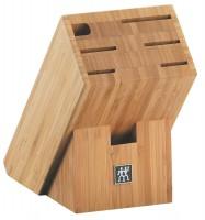 Messerblock, Bambus mit Scherenfach, 24x11,5x19,5 cm