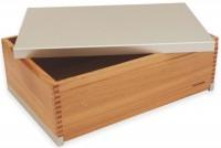 Brotkasten Birnbaum-Aluminium 39x26x13 cm