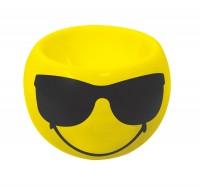 Smiley Eierbecher Emoticon Cool/Sonnenbri., Ø 6cm