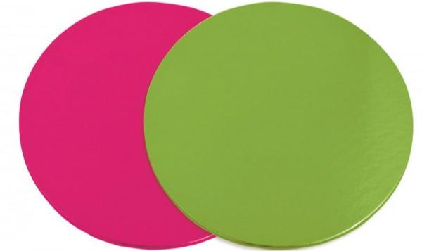 Untersetzer für Kuchen 6 Stk. rosa/grün 24cm