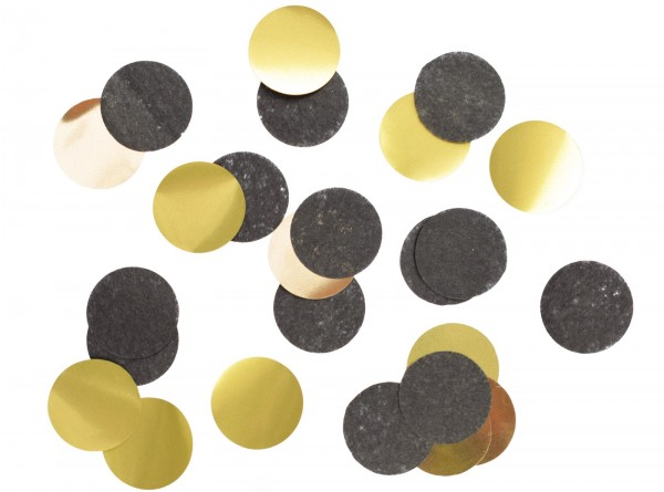 Confetti schwarz/gold 20 g