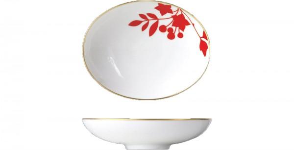 My China Schale oval 11.9x2.5cm Dekor Emperors Garden