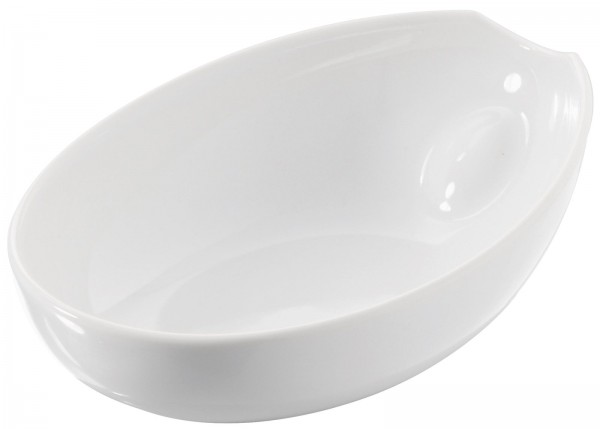 6x Schale oval, 15x11x5 cm, weiss