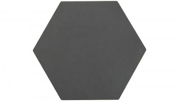 Hexagon Schneidebrett schwarz, 22.8x20.3 cm