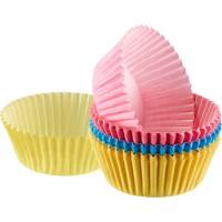 60 Mini Muffin Papier- Backförmchen, farbig