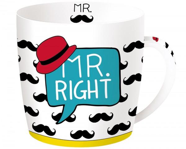 Mr. Right Porzellanbecher in GB, 350 ml