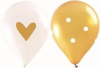 Luftballons Gold, 6 Stk. Ø25cm