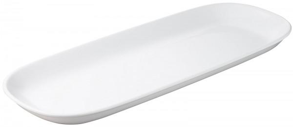 2x Auflaufform oval, 54x12x3.5 cm, weiss