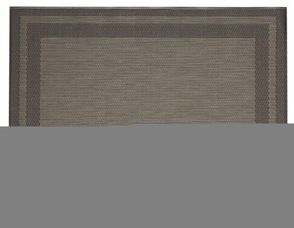 """Tischset """"Rahmen"""", eckig, anthrazit/gold, 32x42 cm"""