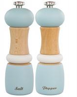 """Set Salz & Pfeffermühle """"Capstan"""" Holz, blau, 15.2 cm"""