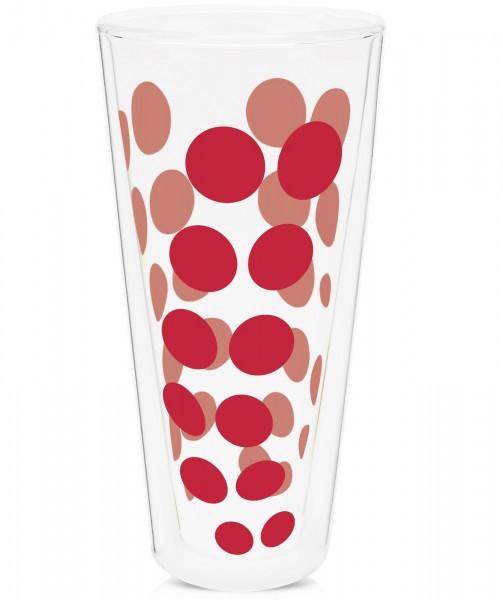 Dot Dot Latte Macchiato rot, doppelwandig 35 cl