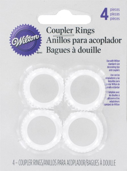Koppler Ring Set 4 tlg. zu Icing u. Geltuben
