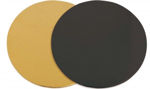 Untersetzer für Kuchen 6 Stk. gold/schwarz 24cm