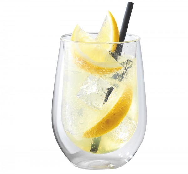 """Sorrento """"Bar"""" Longdrink Glas doppelwandig, 2er Set, 296ml"""