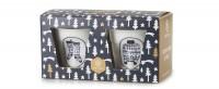 Geschenkset, 2er Espresso Knitterbecher, Winterchic 2