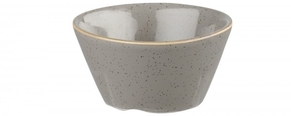 Stonecast Grau Schälchen 9cl ø8cm H. 4.4cm