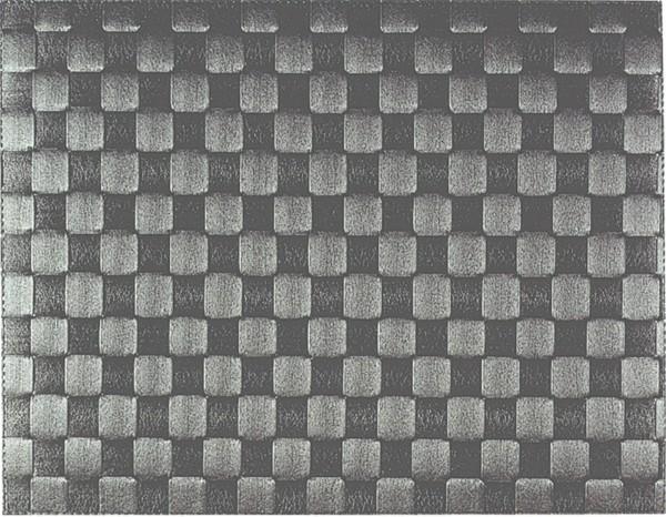 Gewebe-Tischset eckig, anthrazit, 30x40 cm