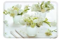 White Flowers Tablett 30x21.5 cm