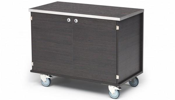 Buffet Italo Wagen 115x59cm H: 89cm, Dunkle Eiche