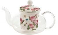 Romantic Roses Teekanne Glas m. Siebeinsatz, 450ml