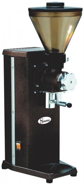 Kaffeemühle mit Beutelhalter braun
