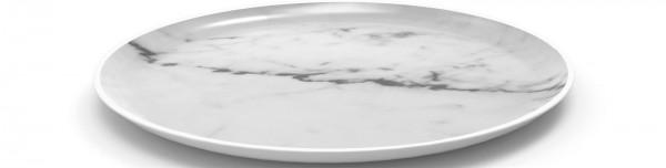 Osmos Platte rund, Marmor Optik weiss/weiss Ø19x1.1cm