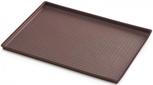 Pizza Backmatte perforiert, braun, 40x30x12 cm