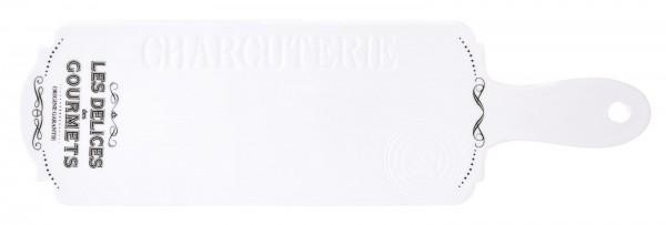 Les Delices des Gourmets Schneidebrett, 40x12 cm, Porzellan